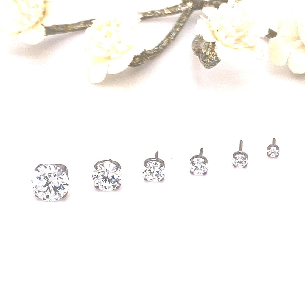 Neometal Threadless Prong-Set Faceted Gem Ends