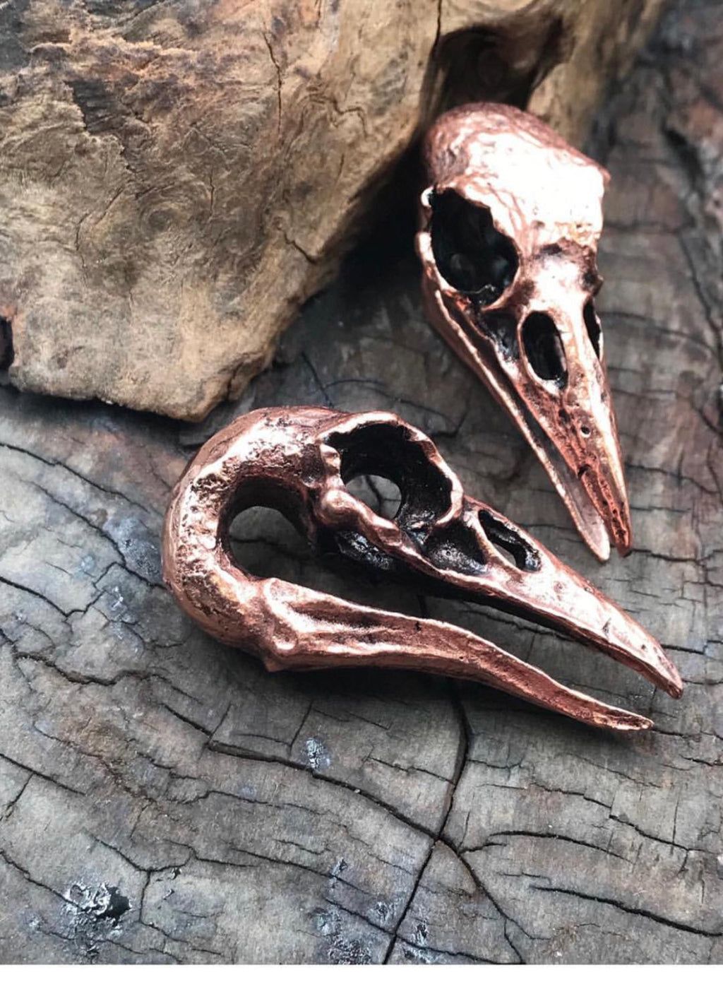 Raven Bird Skull Earring Weights