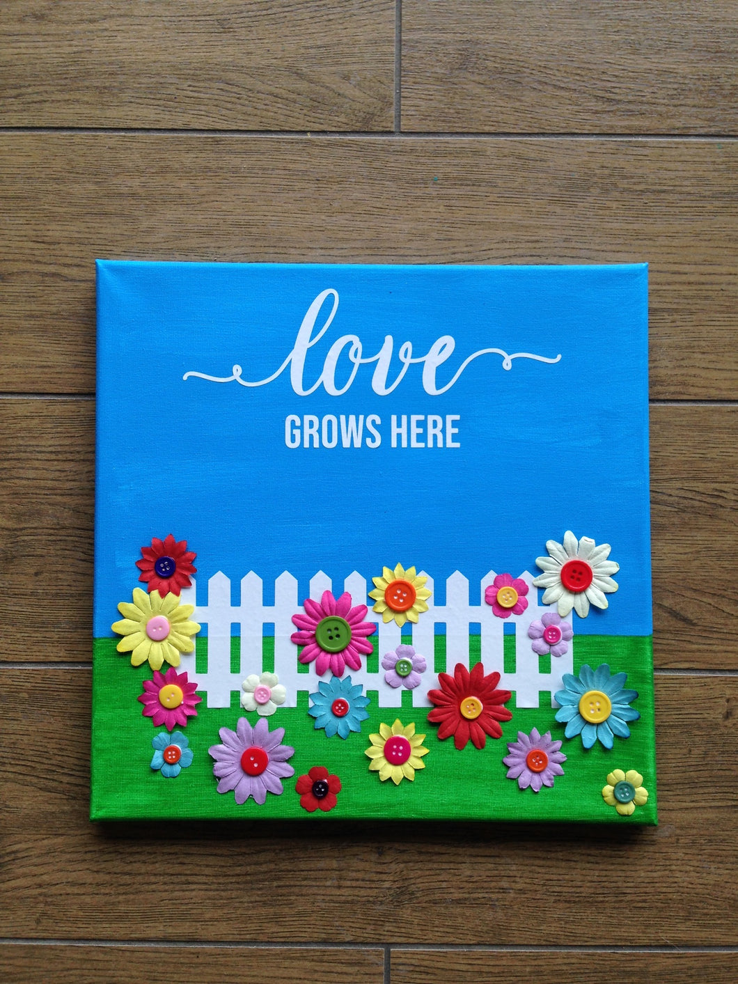 Love Grows Here Canvas
