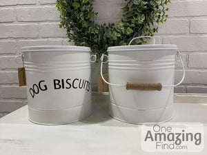 "Dog Biscuits, 7-3/4""W x 11""H Metal Pet Treat Containers"