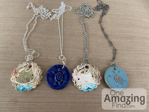 Ceramic Sea Life Handcrafted Pendants