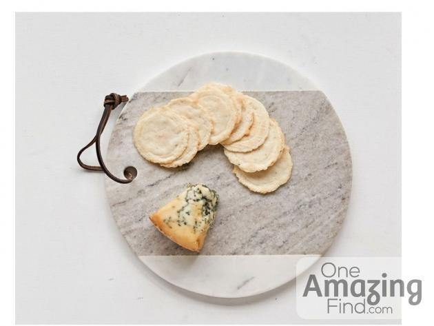 "9"" Round Marble Cheese Board"