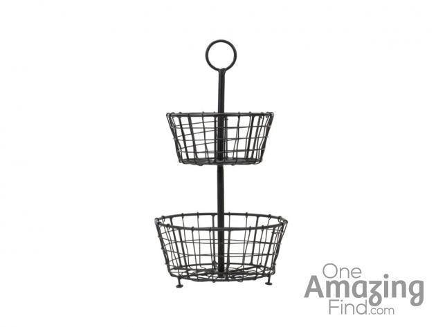 Tiered Metal Basket