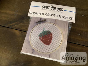 Strawberry cross stitch