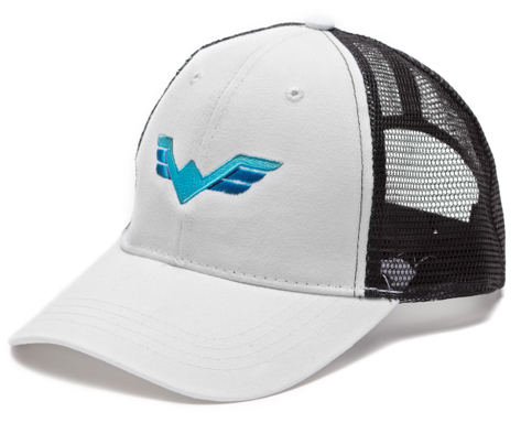 WV Trucker Hat Black & White