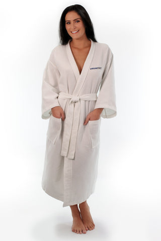 DreamTrips White Waffle Robe