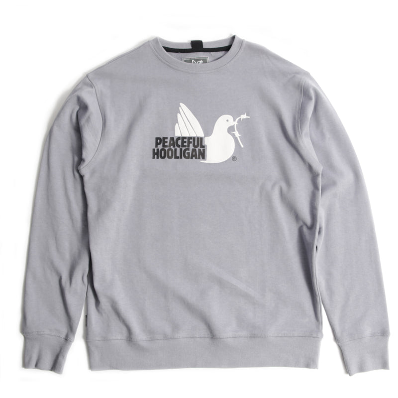 2 Colour Dove Sweatshirt Silver