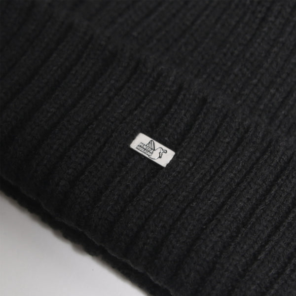 Plain Beanie Black - Peaceful Hooligan