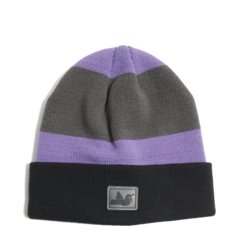 Stripe Beanie NP Iron Gate Ultra Black - Peaceful Hooligan