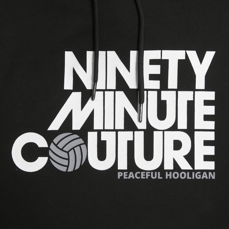 Ninety Minute Hoodie Black - Peaceful Hooligan