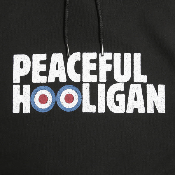 Target Hoodie Black - Peaceful Hooligan