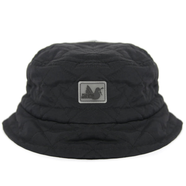 Quilted Bucket Hat Black