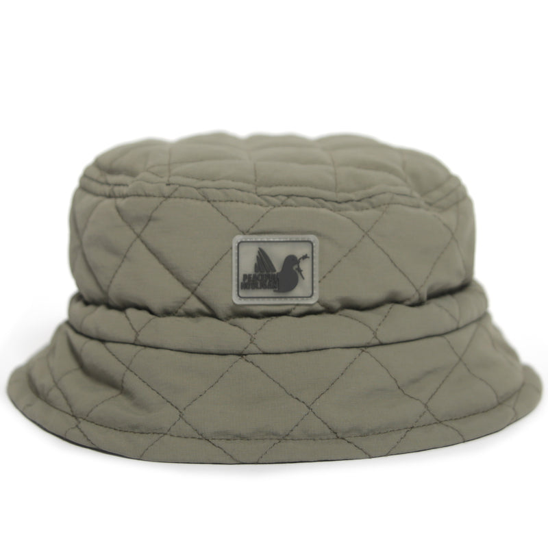Quilted Bucket Hat Khaki