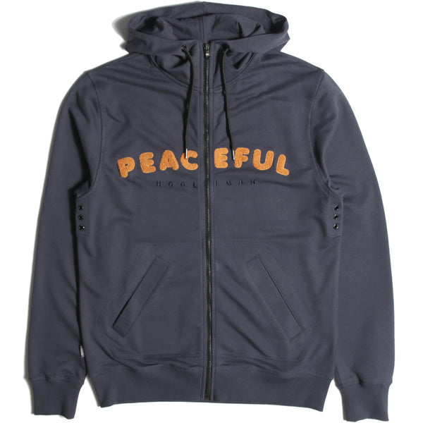 Chenille Hoodie Navy - Peaceful Hooligan