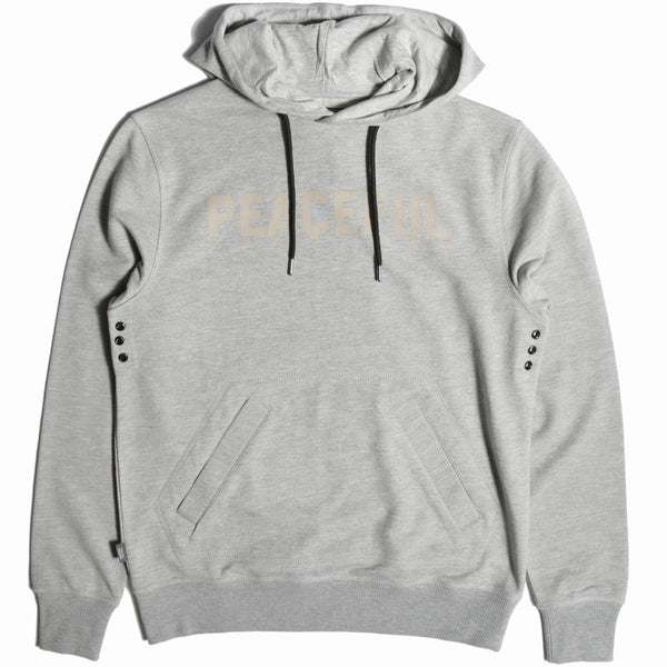 Racer Hoodie Marl Grey - Peaceful Hooligan