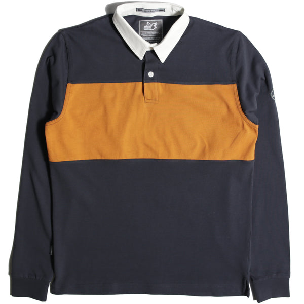 Block Rugby Shirt Navy