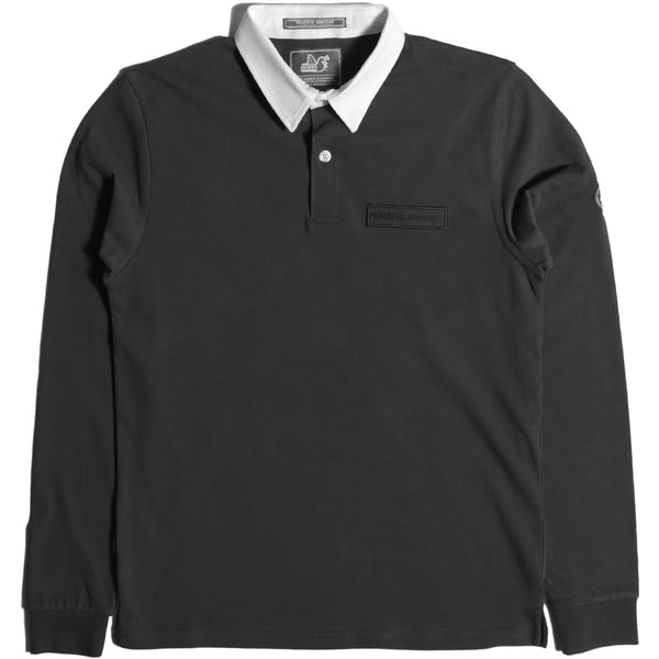 Plain Rugby Shirt Black - Peaceful Hooligan