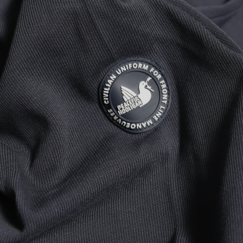 Plain Rugby Shirt Navy - Peaceful Hooligan