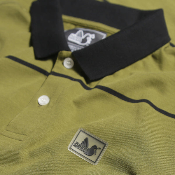 Road Polo Olive / Black - Peaceful Hooligan