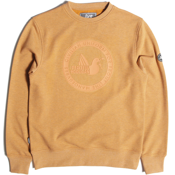 Rubber Print Crew Sweatshirt Orange