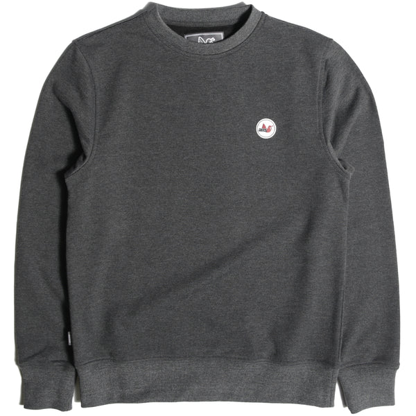 Tri Colour Badge Crew Sweatshirt Black
