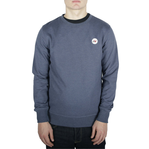 Tri Colour Badge Crew Sweatshirt Navy