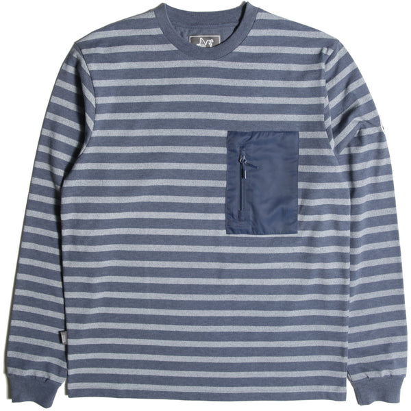 Stripe Sweatshirt Navy