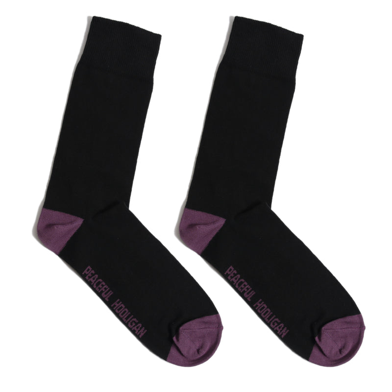 Heel Toe Socks Black
