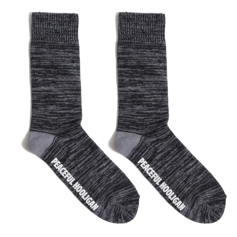 Ribbed Socks Black