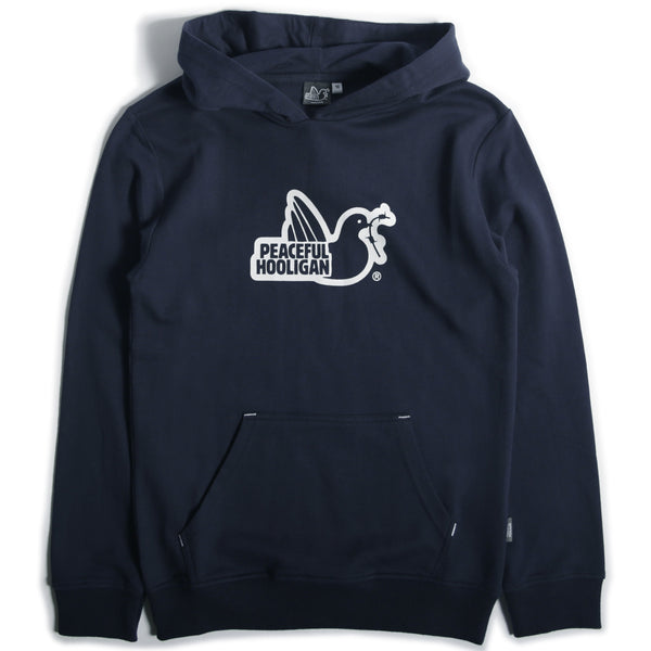 Junior Outline Dove Hoodie Navy