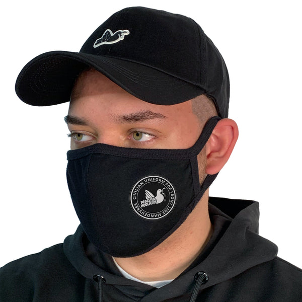Face Mask Black - Peaceful Hooligan