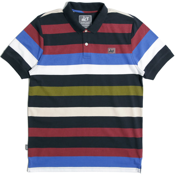 Benton Polo Navy Stripe - Peaceful Hooligan