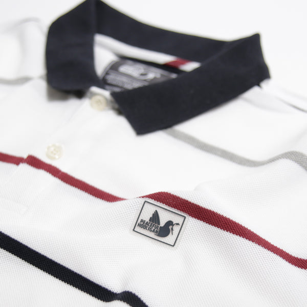 Carlton Polo White Stripe - Peaceful Hooligan