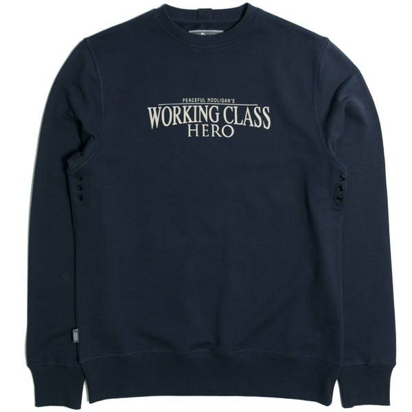 Hero Sweatshirt Navy - Peaceful Hooligan