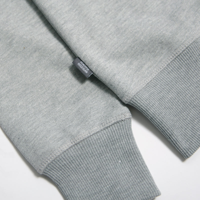Outline Sweatshirt Marl Grey - Peaceful Hooligan