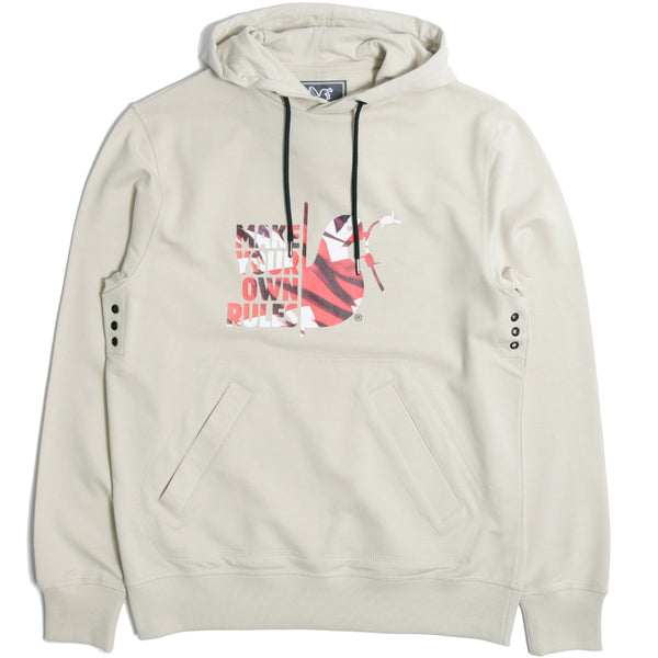 Make Your Own Rules Hoodie Oyster - Peaceful Hooligan