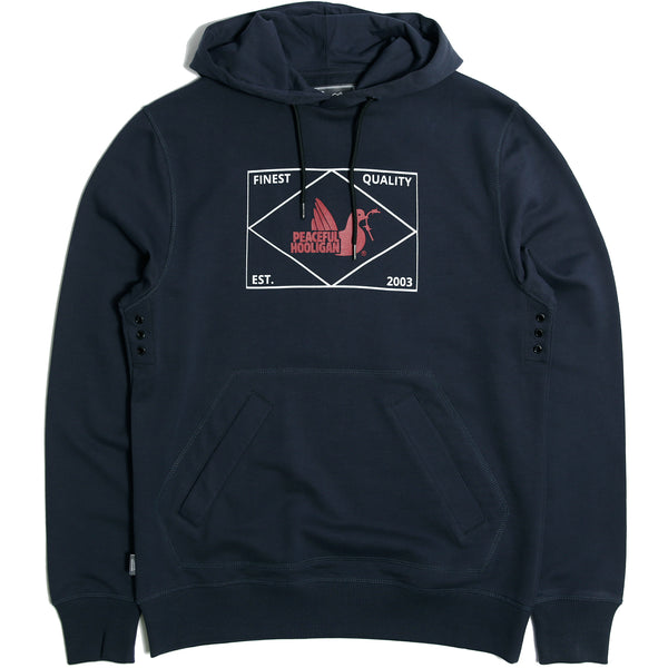 Match Hoodie Navy - Peaceful Hooligan