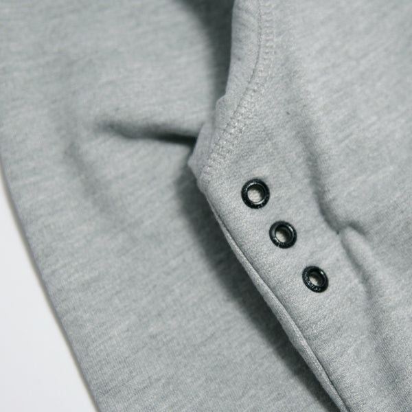 Outline Hoodie Marl Grey - Peaceful Hooligan
