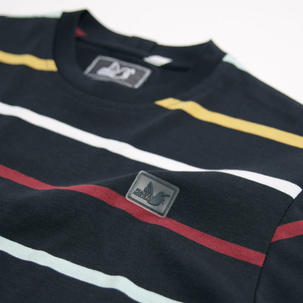 Alden T-Shirt Navy Stripe - Peaceful Hooligan