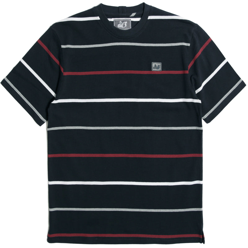 Callahan T-Shirt Navy Stripe - Peaceful Hooligan