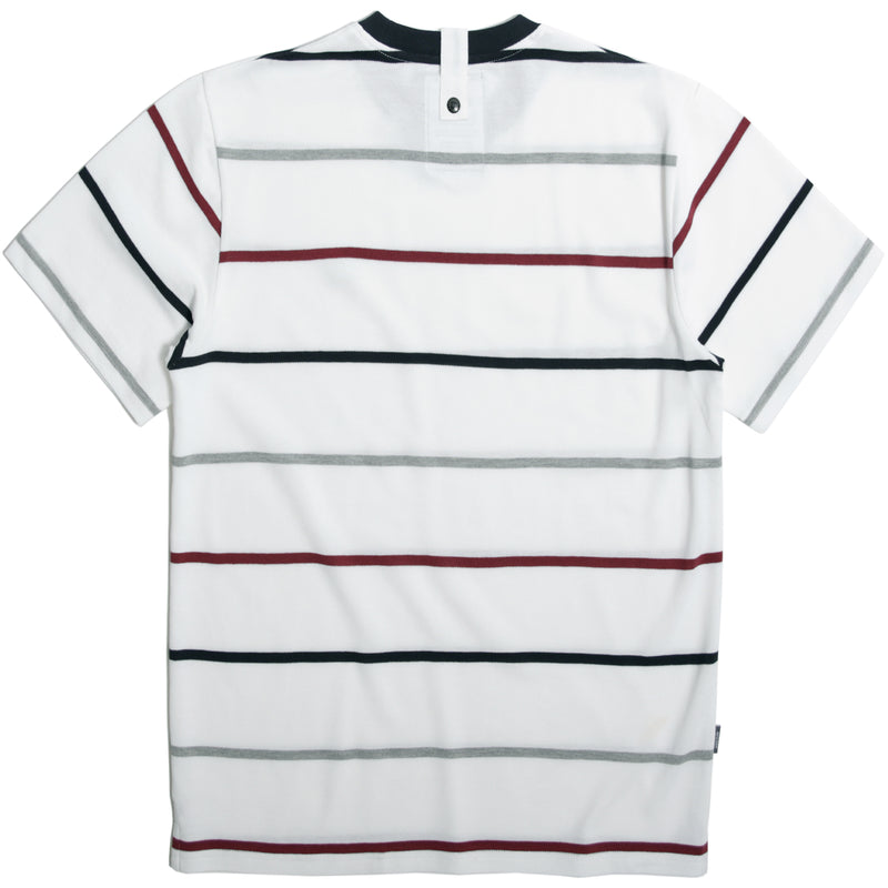 Callahan T-Shirt White Stripe - Peaceful Hooligan