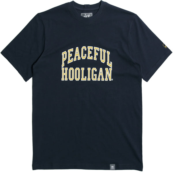 College T-Shirt Navy - Peaceful Hooligan