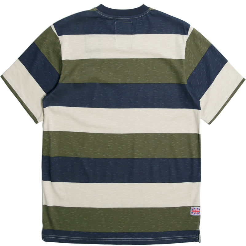 Grover T-Shirt Oyster/ Navy/ Olive - Peaceful Hooligan