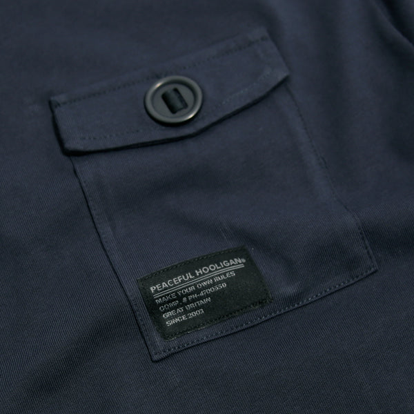 Hale T-Shirt Navy - Peaceful Hooligan