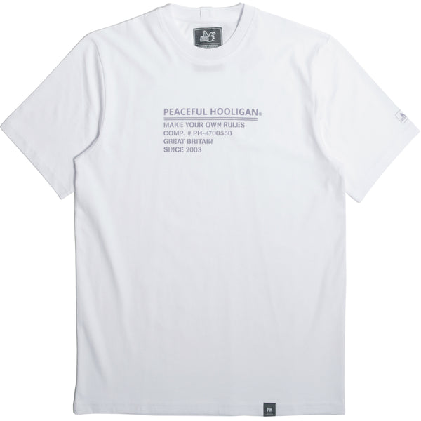 I.D T-Shirt White - Peaceful Hooligan