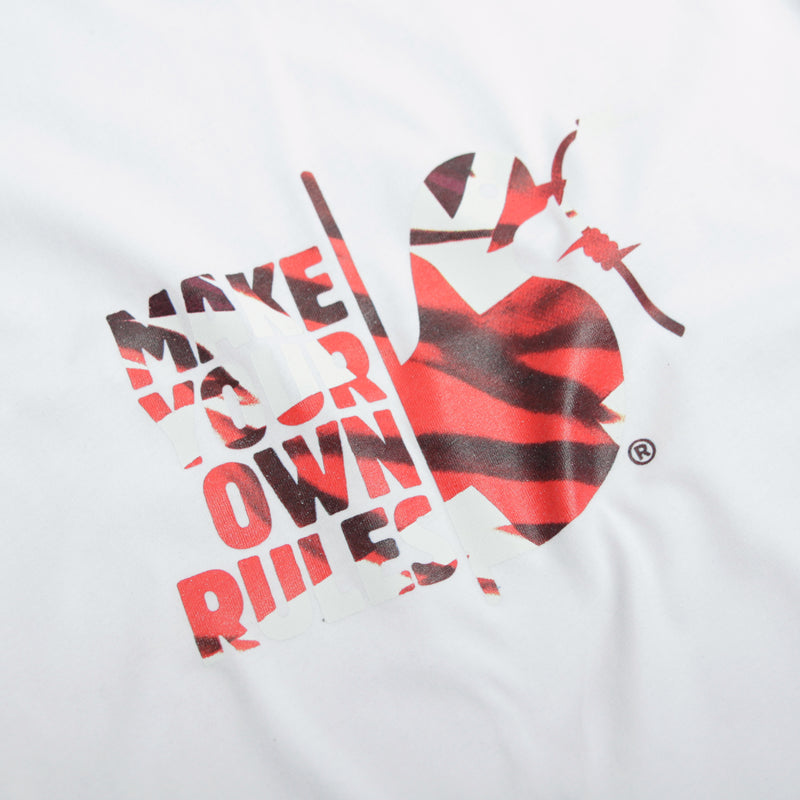 Make Your Own Rules T-Shirt White - Peaceful Hooligan