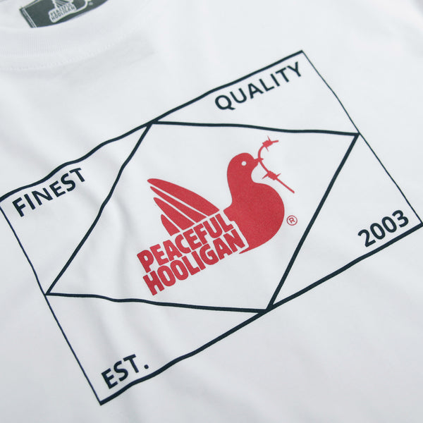 Match T-Shirt White - Peaceful Hooligan