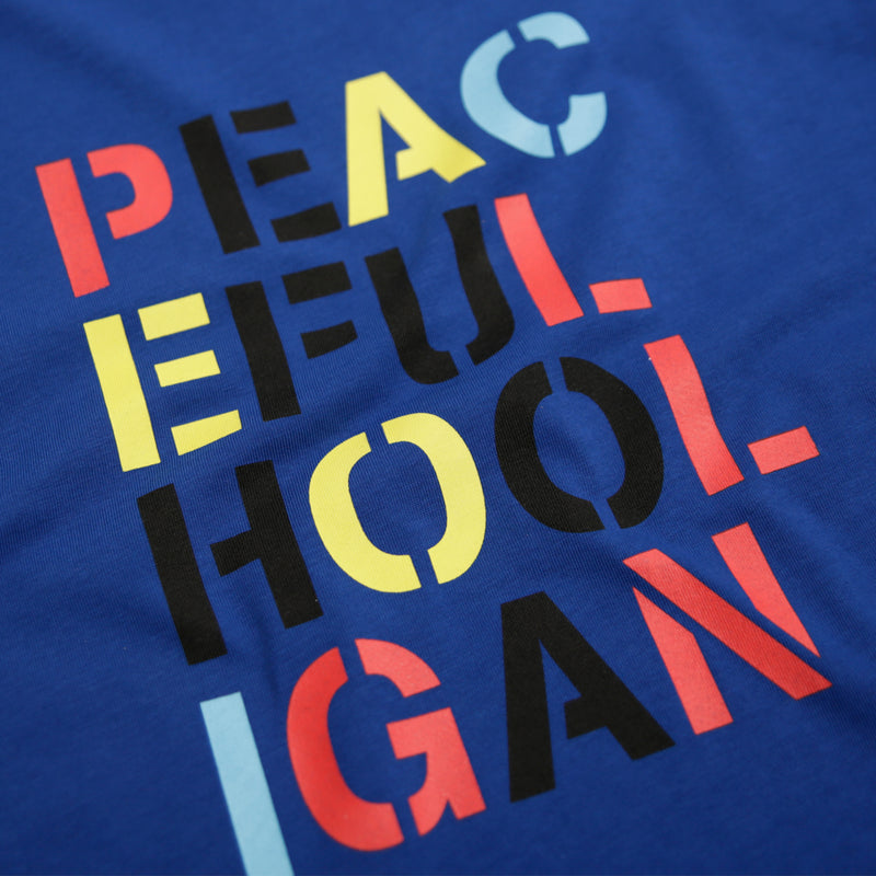 Stencil T-Shirt Bright Blue - Peaceful Hooligan