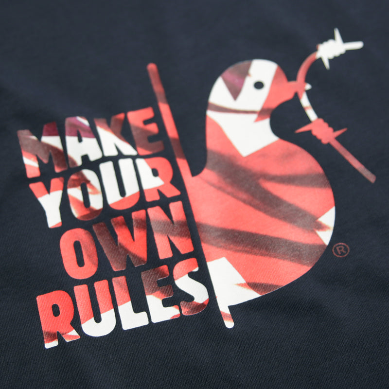 Make Your Own Rules T-Shirt Navy - Peaceful Hooligan