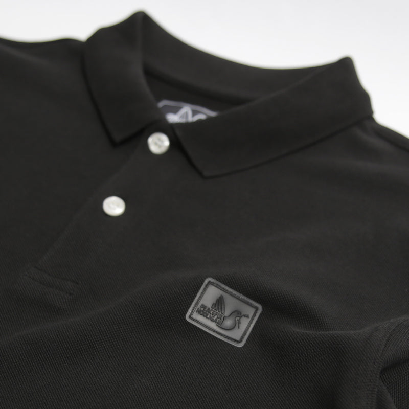 Quinn LS Polo Black - Peaceful Hooligan